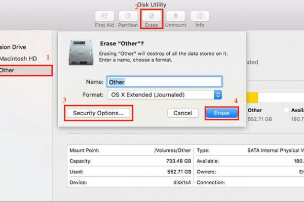 فرمت - FAT32 - ExFAT - مک - mac - format - نحوه فرمت کردن