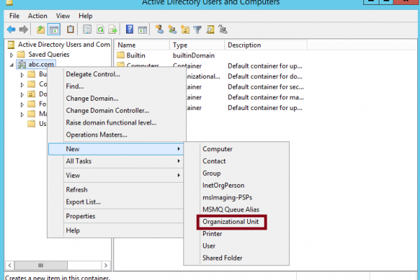 Organizational Unit - Active Directory - Domain Controller - Group Oplicy - OU