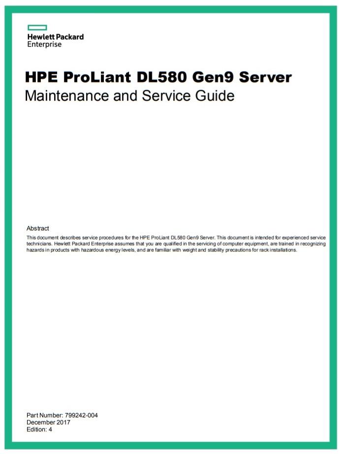 سرور اچ پی - سرور - HPE Proliant - DL580 Gen9