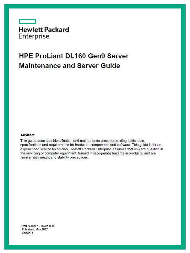 سرور اچ پی - سرور - HPE Proliant - DL160 Gen9