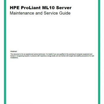 سرور - سرور اچ پی - ML10- HPE Proliant