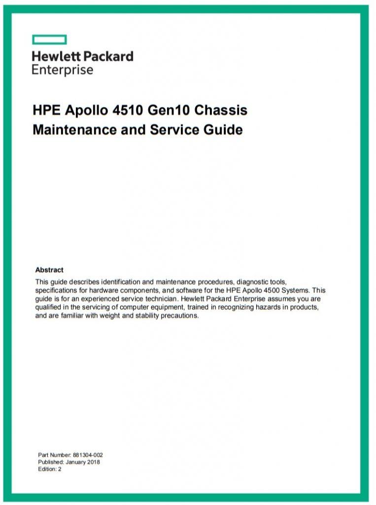 HPE Apollo - 4510 Gen10 - سرور - سرور اچ پی