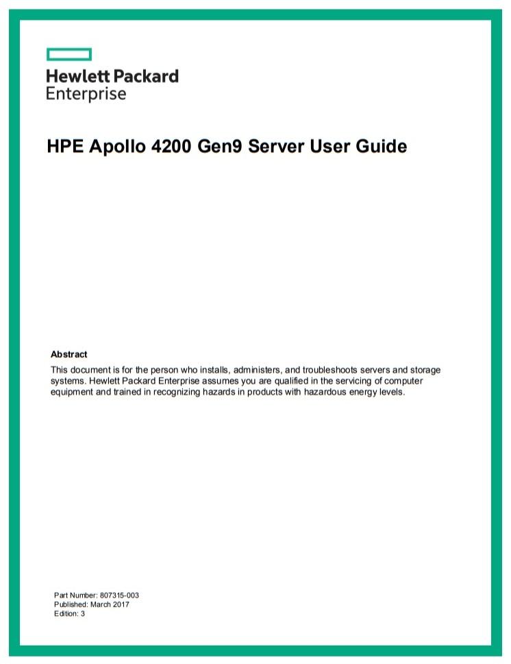 HPE Apollo - 4200 Gen9 - سرور - سرور اچ پی