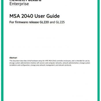 استوریج اچ پی - HPE - MSA 2040