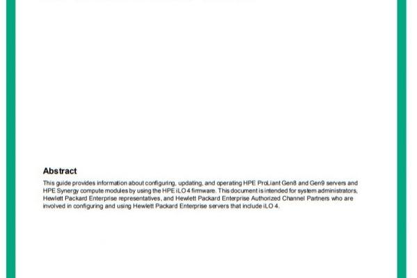 HPE - iLO 4 - سرور