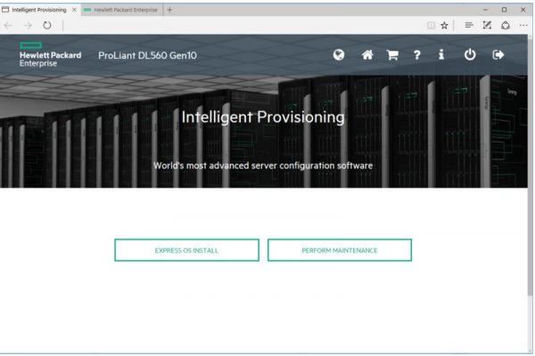 Intelligent Provisioning - اچ پی - HPE